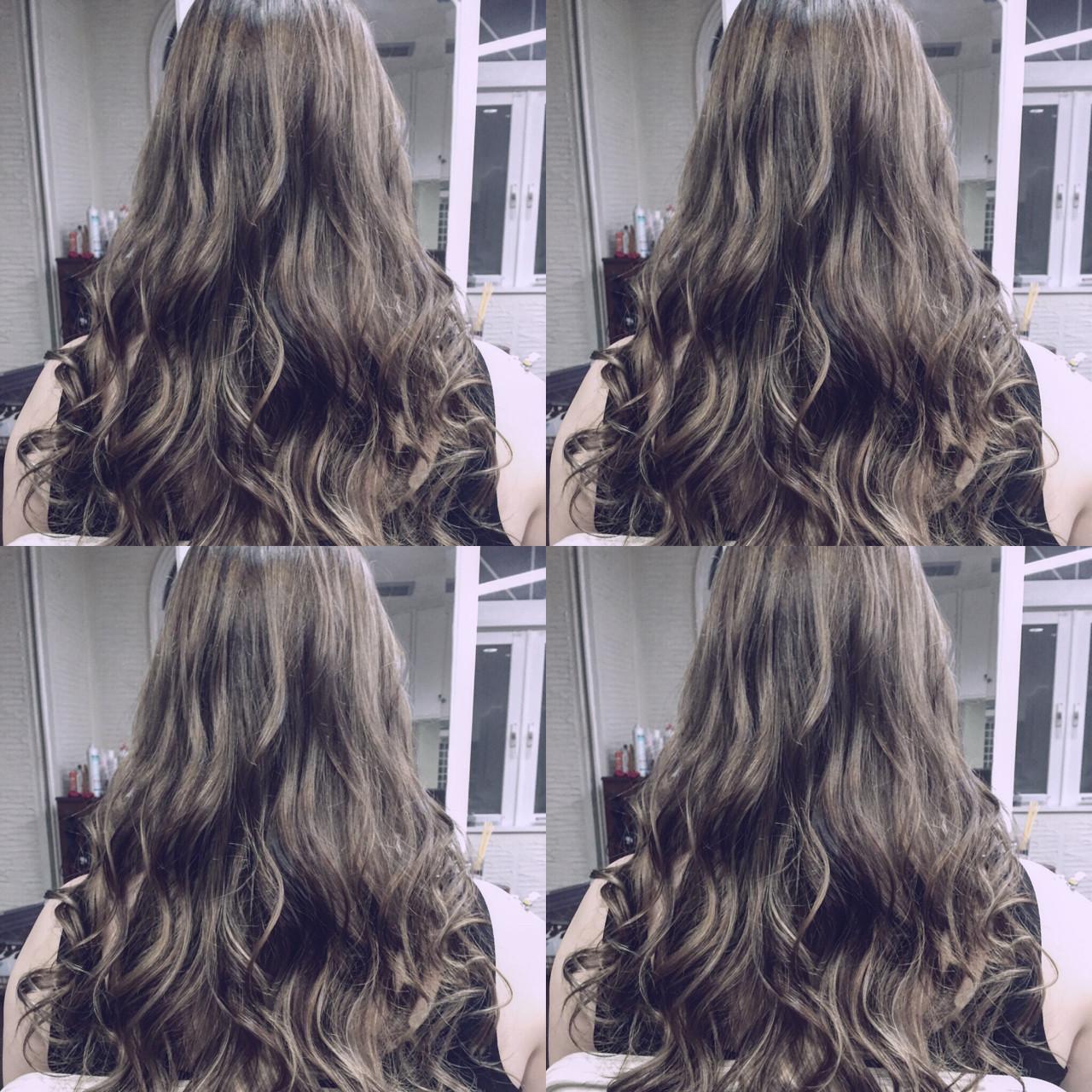 ハイライト グラデーションカラー アッシュ ストリート ヘアスタイルや髪型の写真・画像 | TOMOMO / HAIR SOPHIS