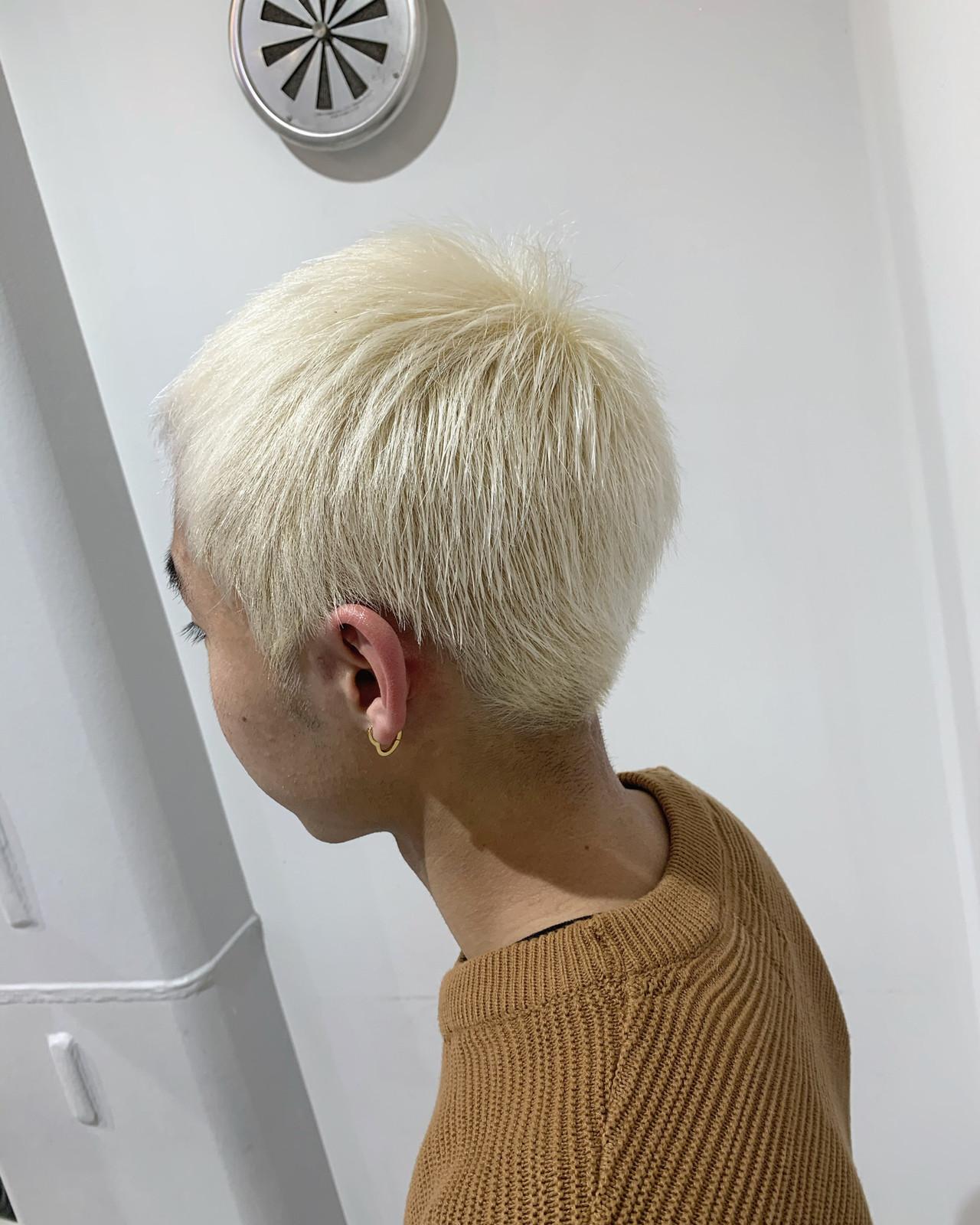 メンズカラー ストリート ホワイトアッシュ ダブルカラー ヘアスタイルや髪型の写真・画像 | ALIVE【阿部 圭悟】 / ALIVE
