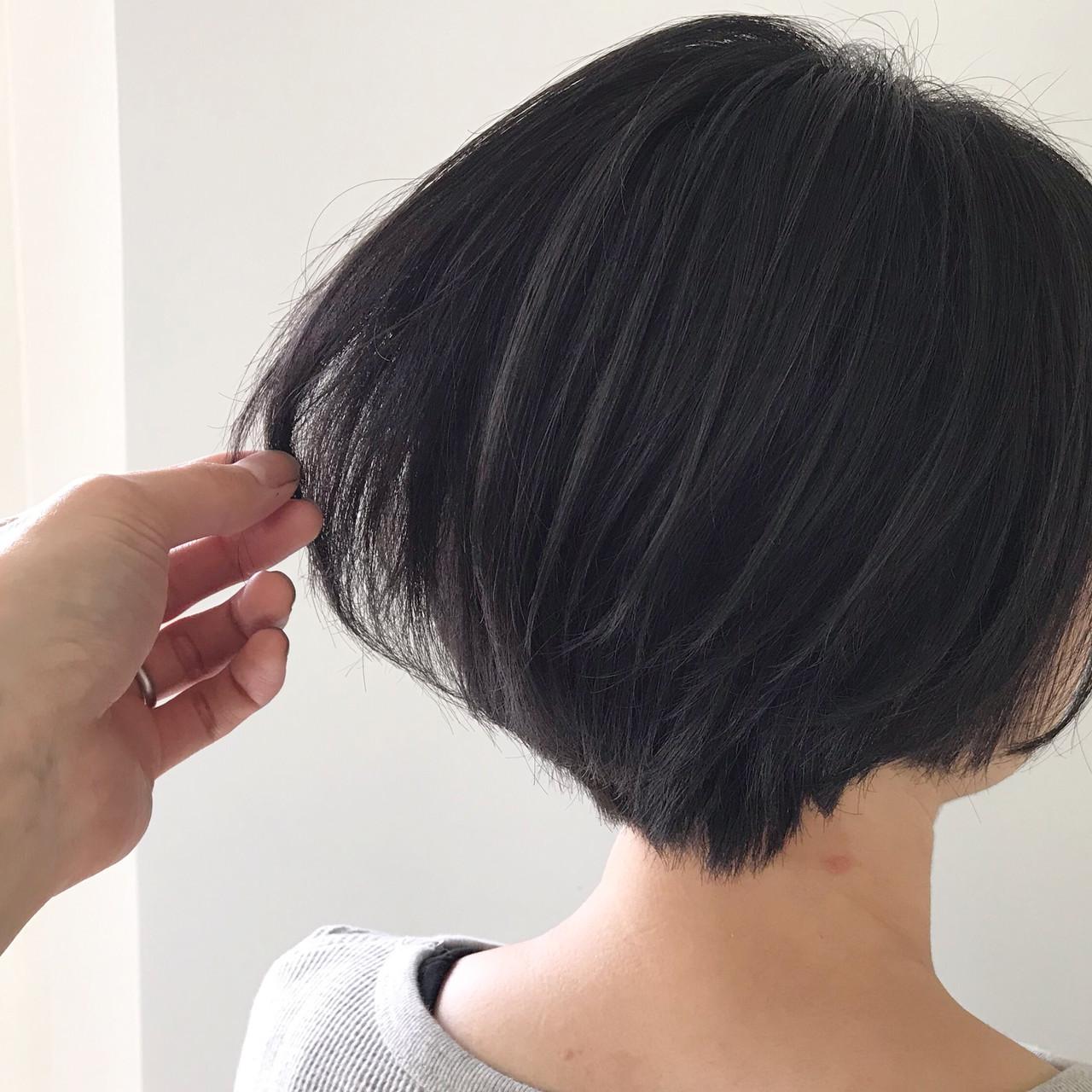デート ミニボブ ボブ ショートボブ ヘアスタイルや髪型の写真・画像