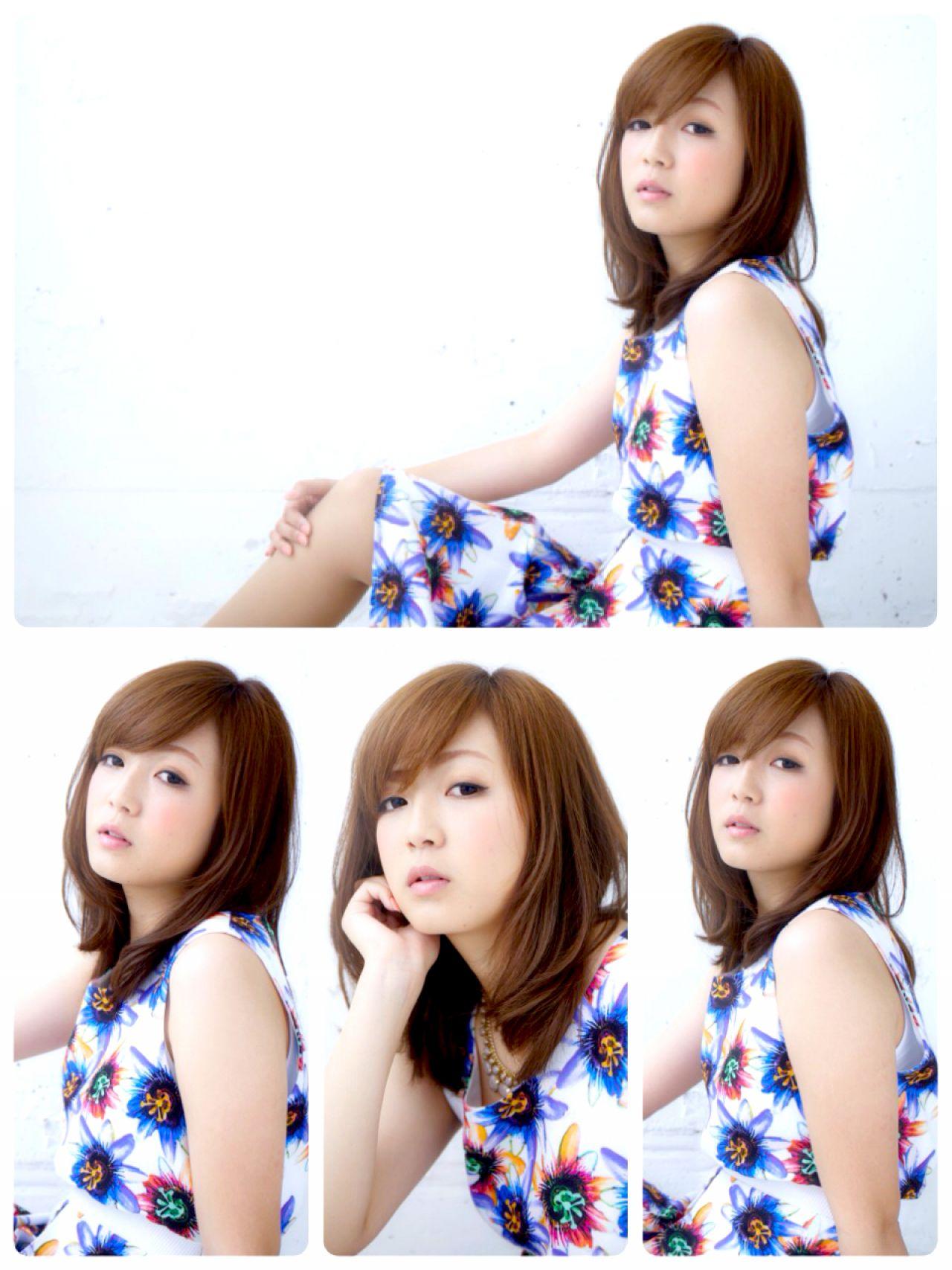 ミディアム 卵型 大人かわいい 愛され ヘアスタイルや髪型の写真・画像