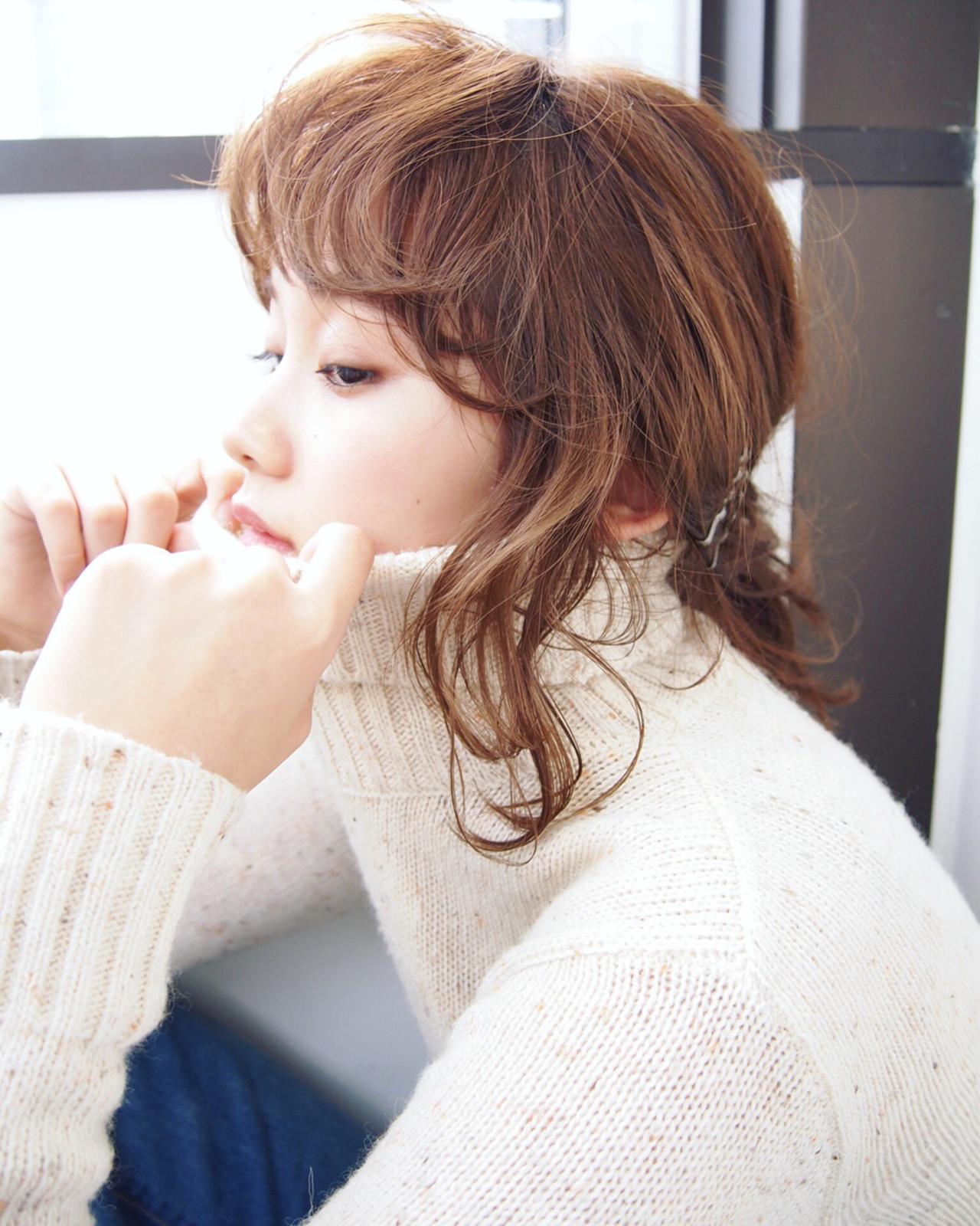 外国人風 ゆるふわ ヘアアレンジ ショート ヘアスタイルや髪型の写真・画像 | UEKI/nanuk / nanuk二子玉川