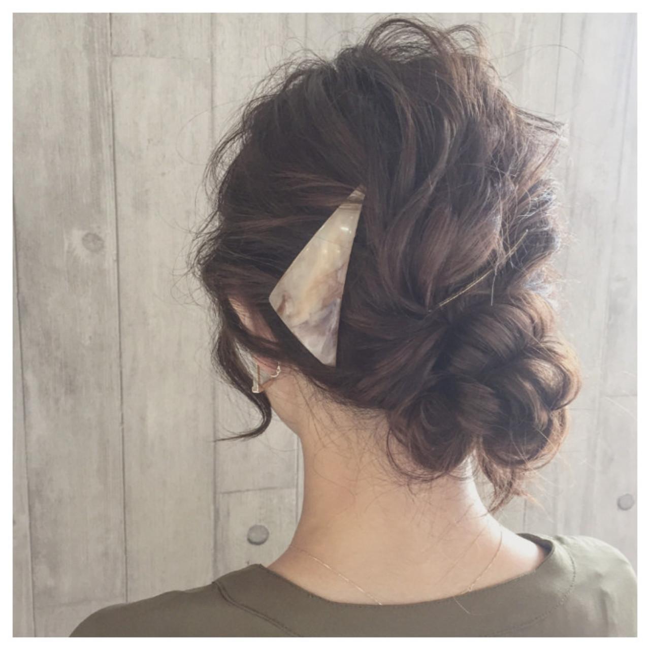 大人かわいい ロング バレッタ ヘアアレンジ ヘアスタイルや髪型の写真・画像