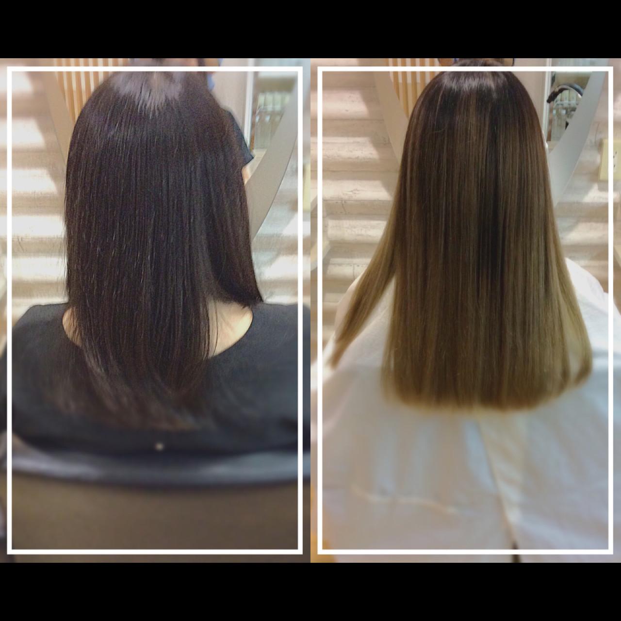 ナチュラル 髪質改善トリートメント 髪質改善カラー ロング ヘアスタイルや髪型の写真・画像 | KON / &g