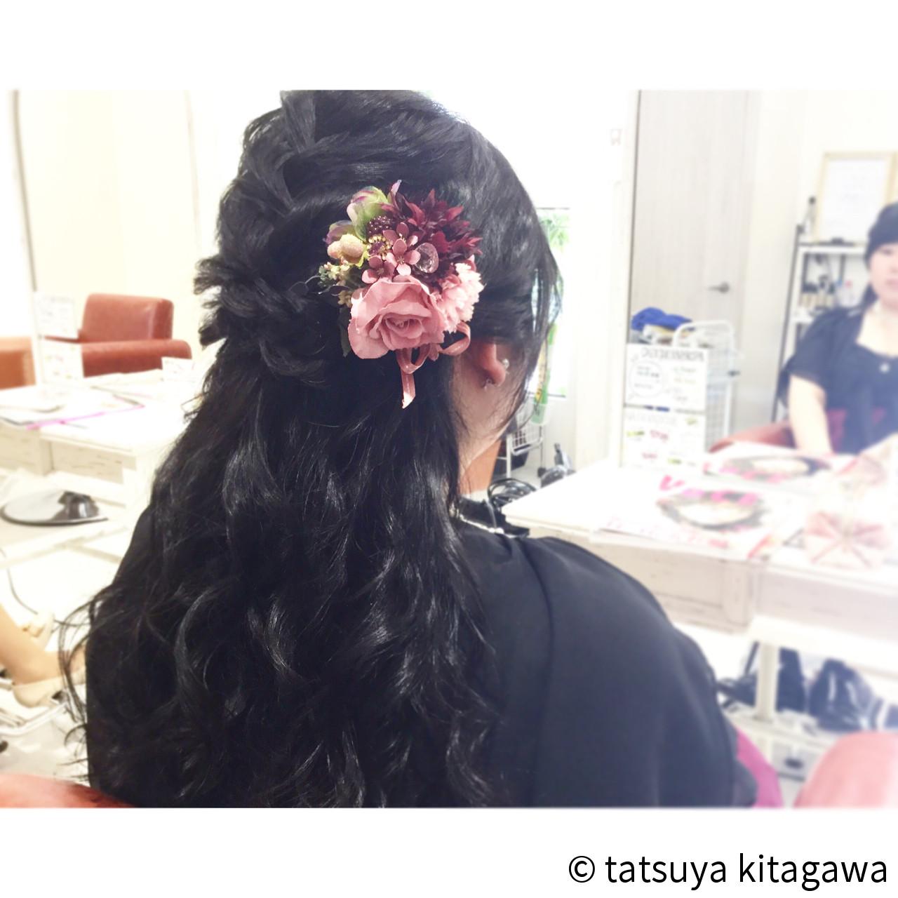 ゆるふわ 結婚式 外国人風 ロング ヘアスタイルや髪型の写真・画像