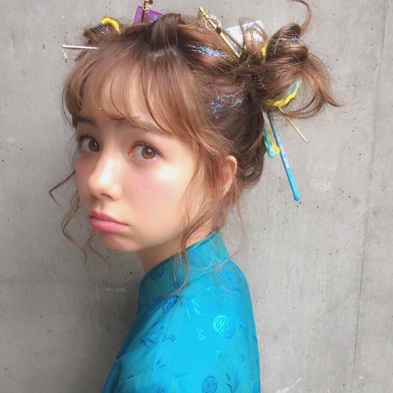 ピュア ショート ミディアム 簡単ヘアアレンジ ヘアスタイルや髪型の写真・画像