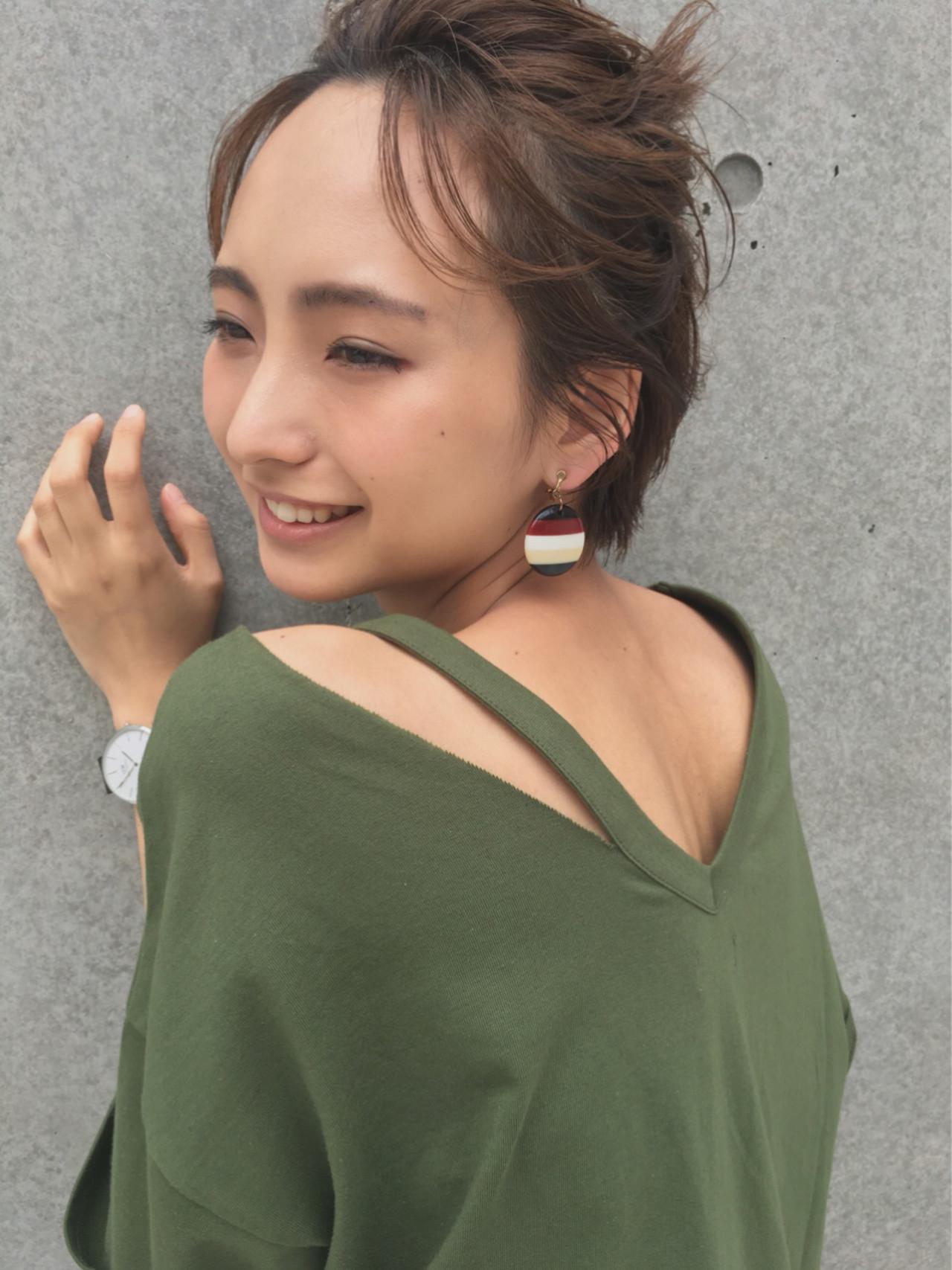 ガーリー 簡単ヘアアレンジ 夏 大人かわいい ヘアスタイルや髪型の写真・画像 | imai yutaro / Aj