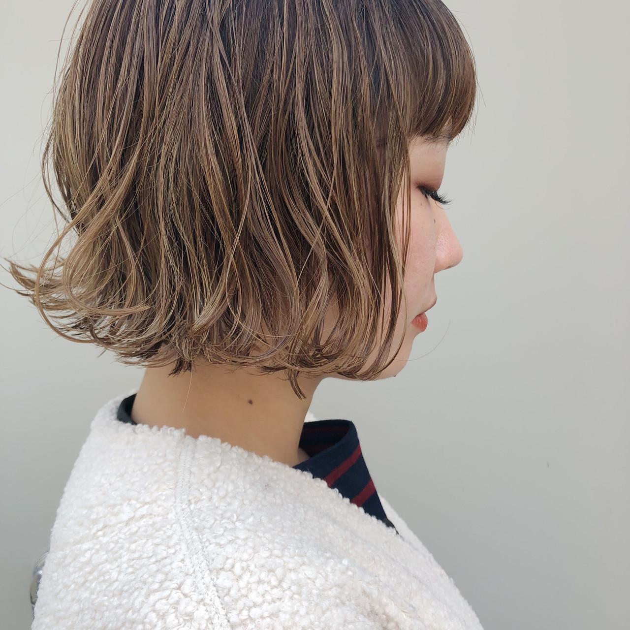 ハイトーン ハイライト ガーリー 外国人風カラー ヘアスタイルや髪型の写真・画像