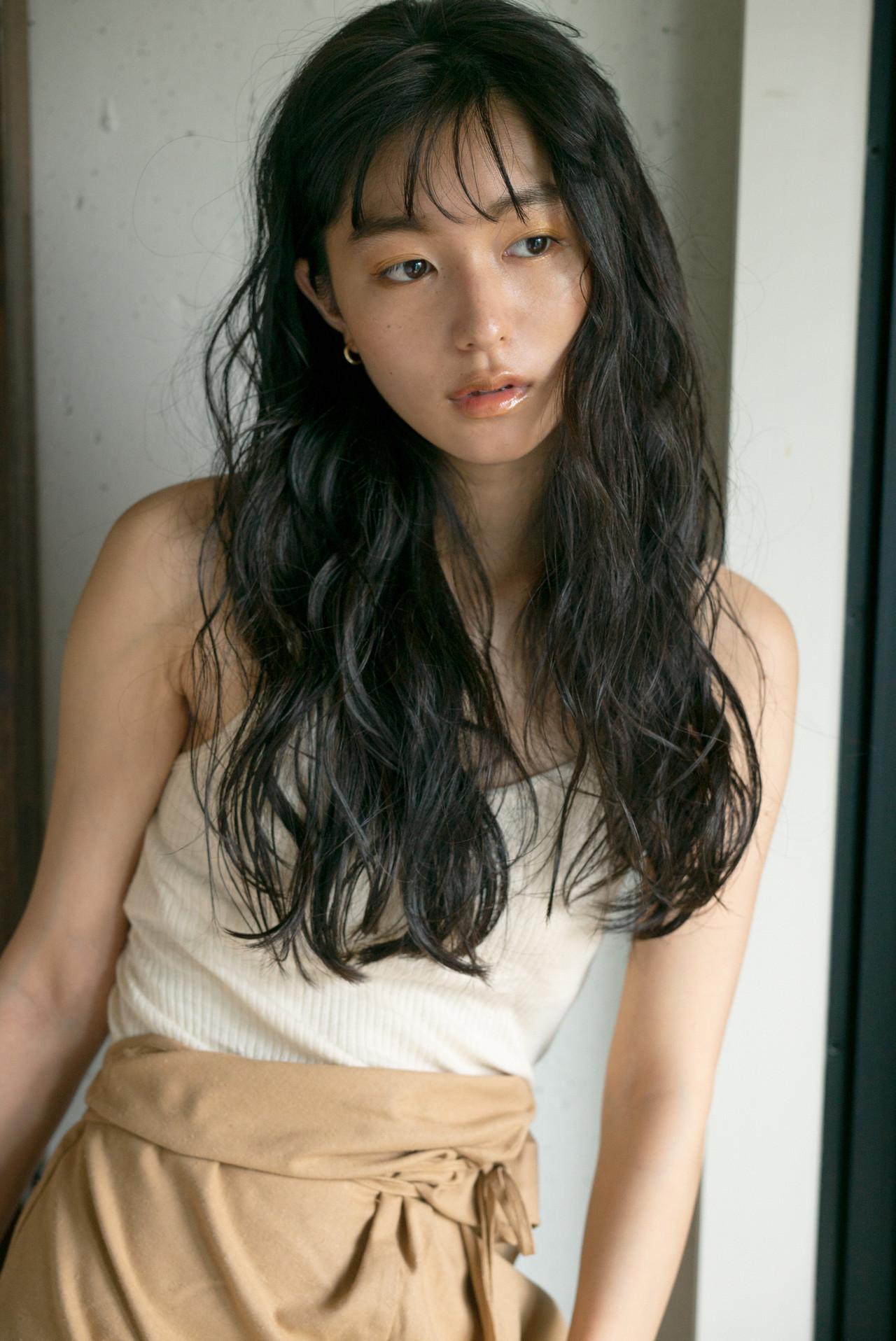 ロング ナチュラル デート ヘアアレンジ ヘアスタイルや髪型の写真・画像