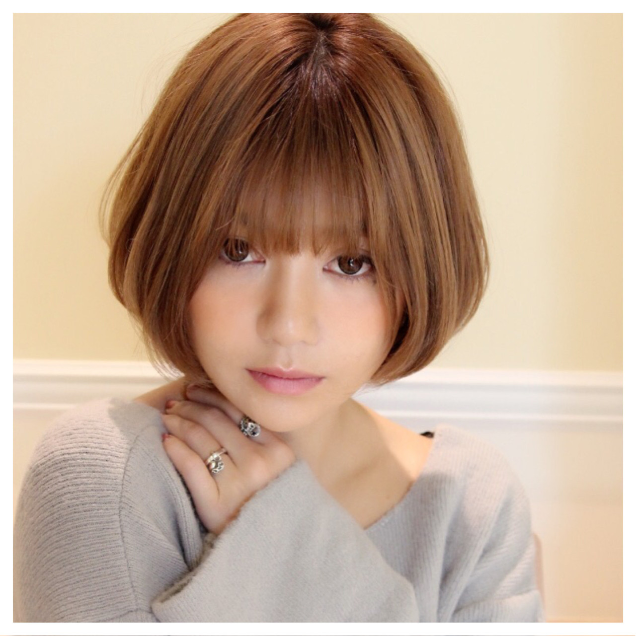 大人女子 こなれ感 ミルクティー アッシュ ヘアスタイルや髪型の写真・画像 | Masanori Yamasaki / Reuna(レウナ)