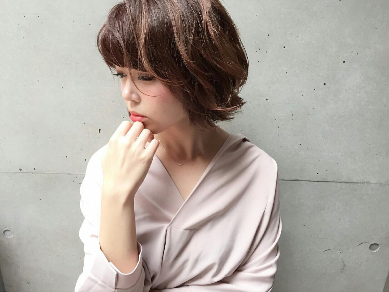 ストリート 小顔 パーマ 色気 ヘアスタイルや髪型の写真・画像 | のりちゃん /