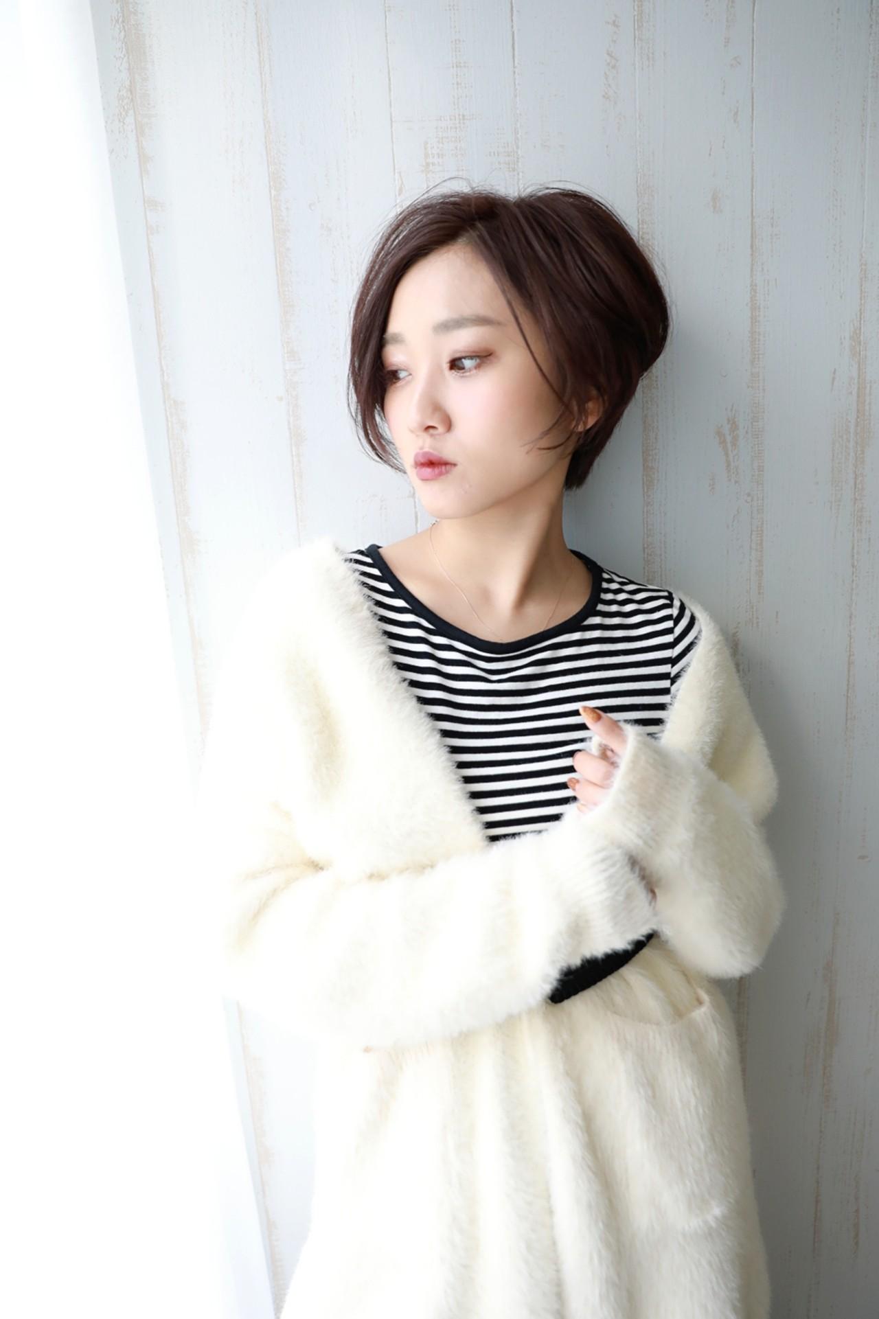 ナチュラル ショート 大人女子 似合わせ ヘアスタイルや髪型の写真・画像 | Naoko Miura / avant