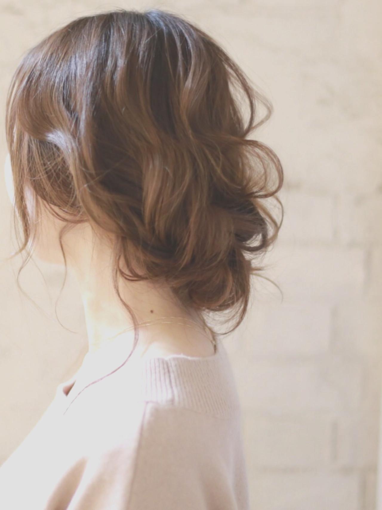 パーティ 大人かわいい ヘアアレンジ 結婚式 ヘアスタイルや髪型の写真・画像   廣田哲也 / nalu hair
