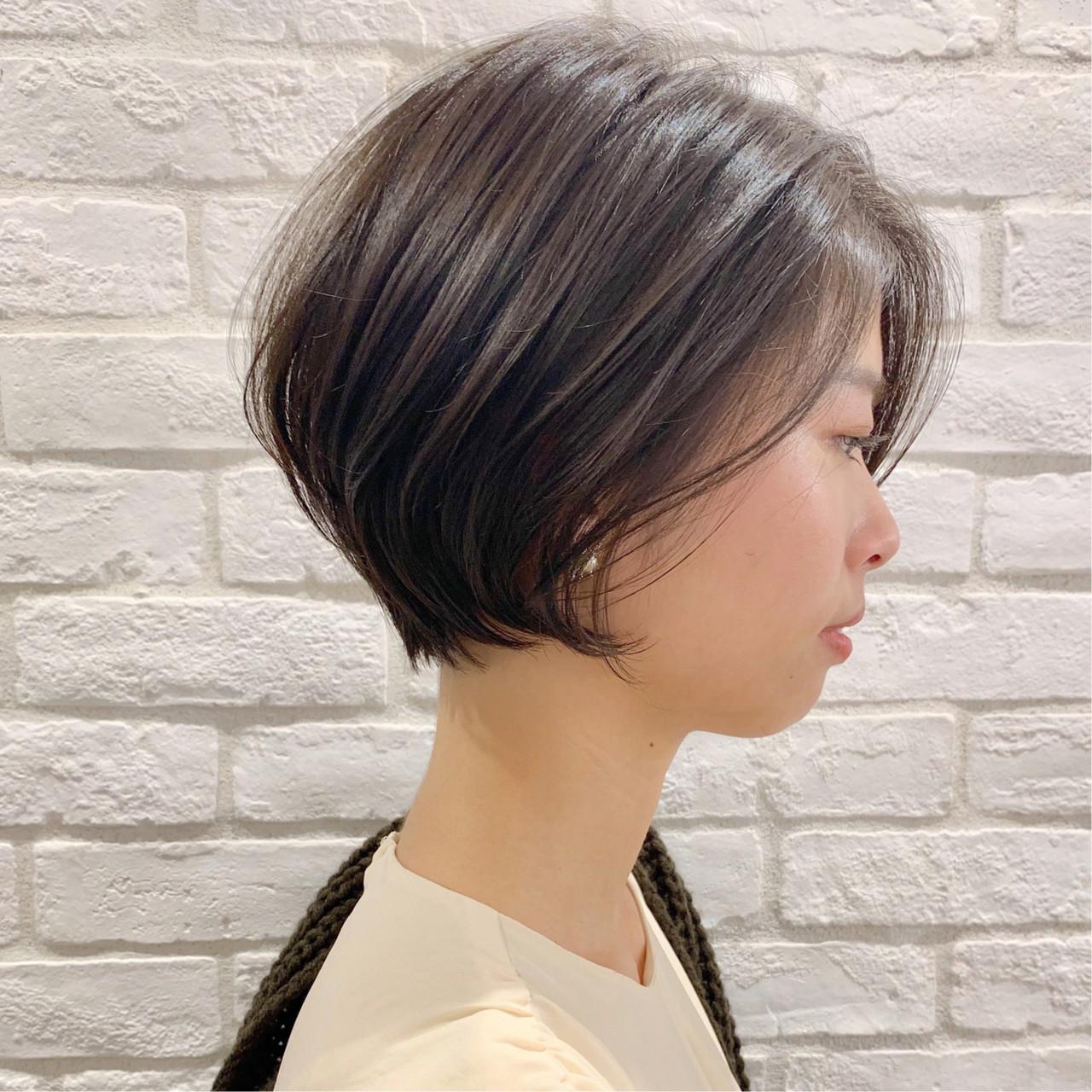 アウトドア ヘアアレンジ オフィス ショート ヘアスタイルや髪型の写真・画像 | ショートボブの匠【 山内大成 】『i.hair』 / 『 i. 』 omotesando