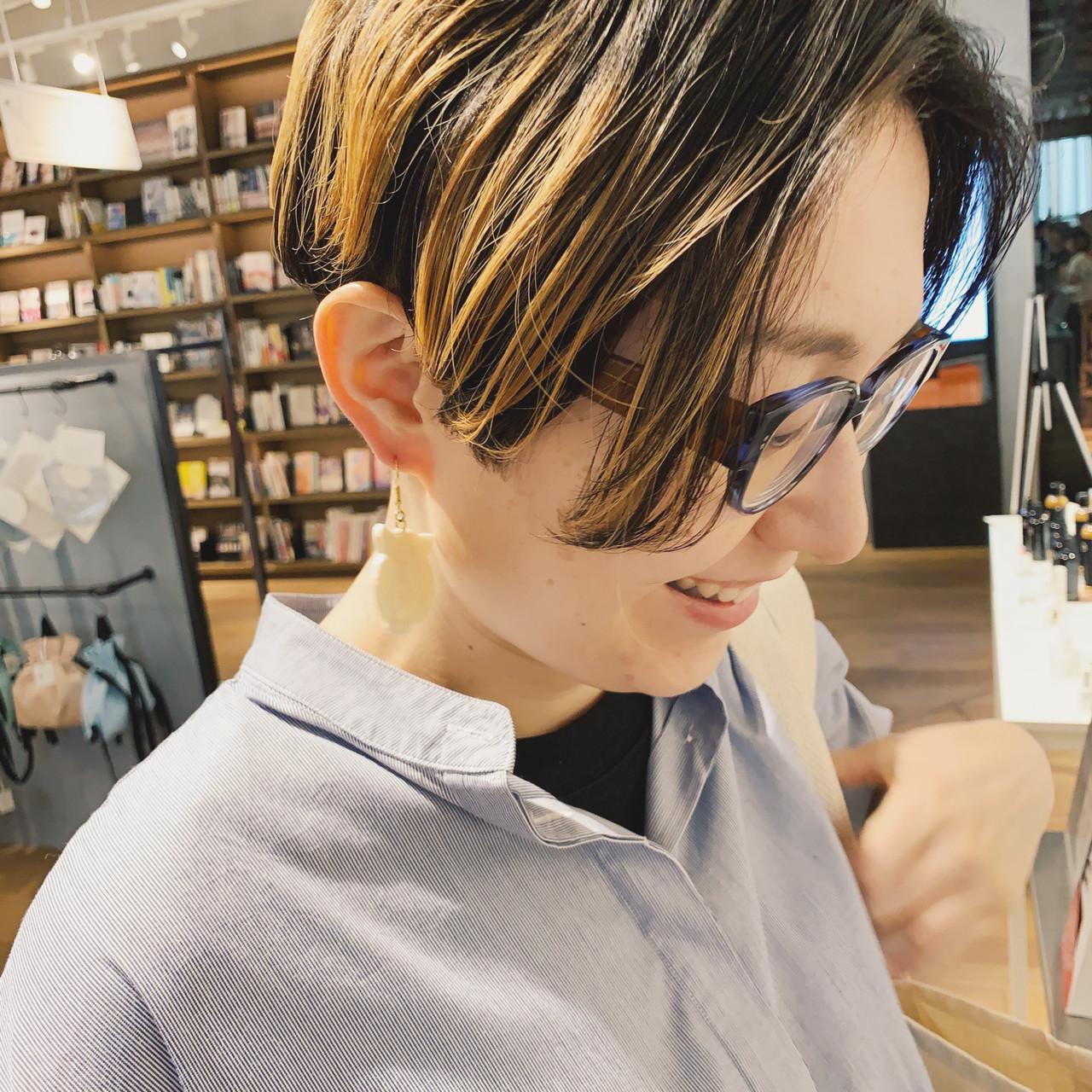ハンサムショート ブリーチ ショート 外国人風カラー ヘアスタイルや髪型の写真・画像 | ミヤタリョウ/エスクール/ / hair S.COEUR×Cu 枚方T-SITE店