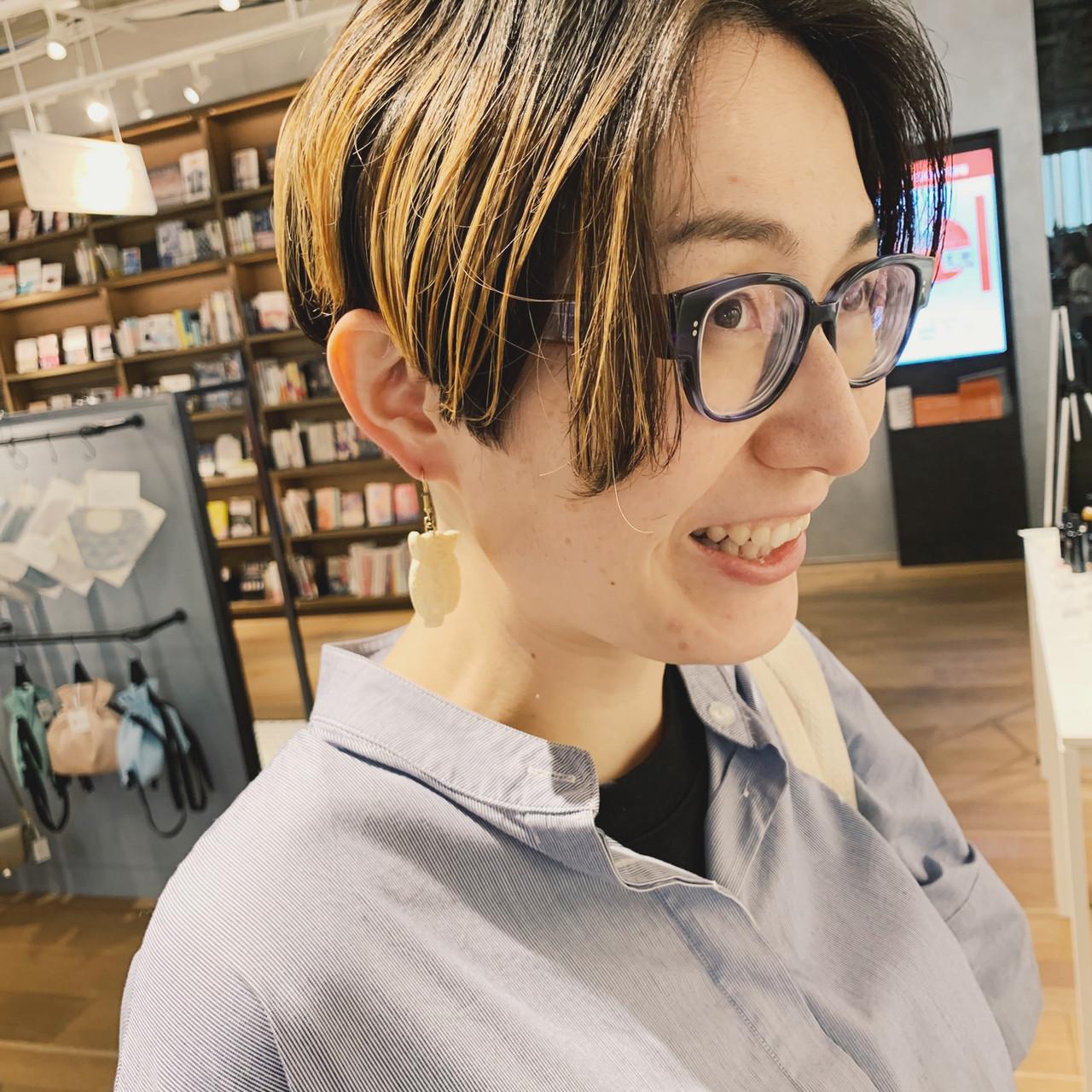 ハンサムショート ブリーチ ショート 外国人風カラー ヘアスタイルや髪型の写真・画像