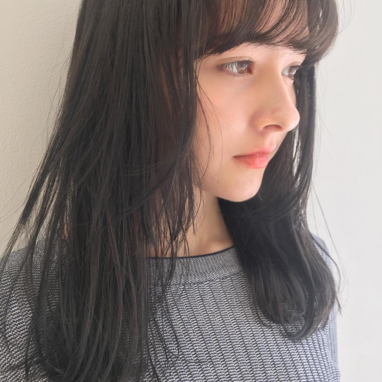 ガーリー ダークアッシュ 暗髪 ゆるふわ ヘアスタイルや髪型の写真・画像