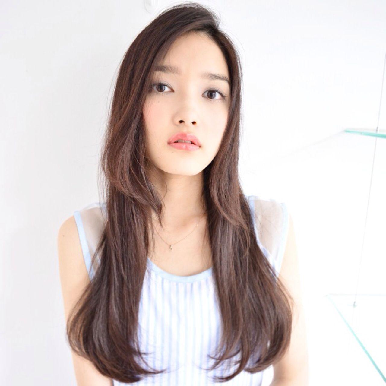 モード ナチュラル 暗髪 大人女子 ヘアスタイルや髪型の写真・画像