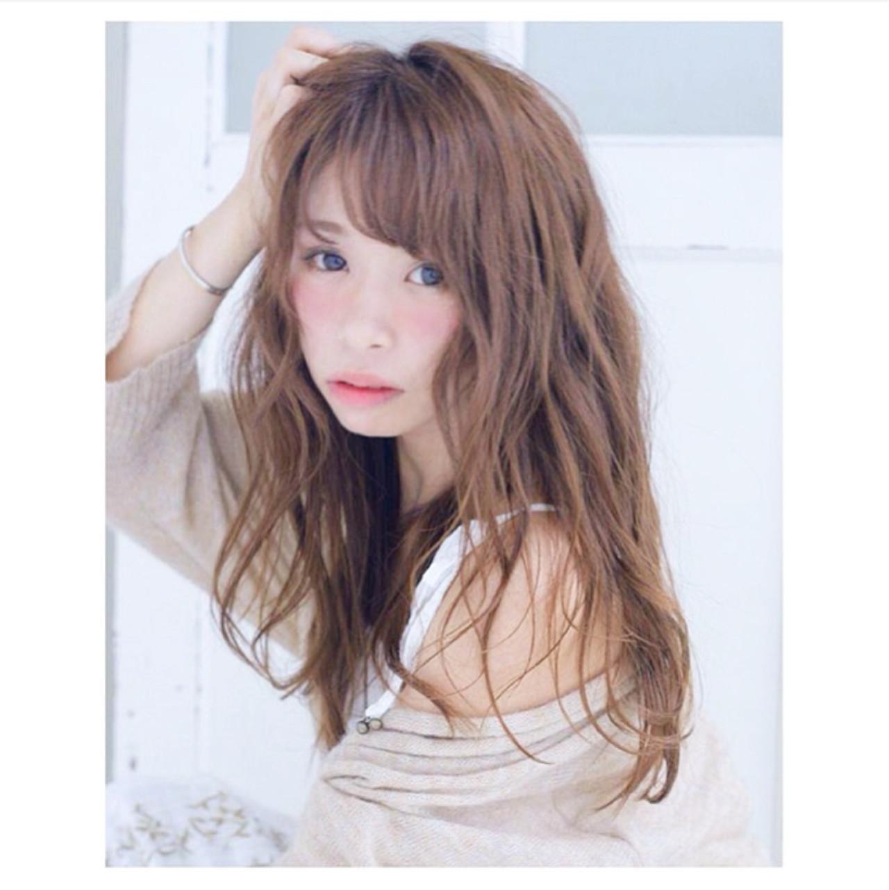 ニュアンス フェミニン ガーリー 大人女子 ヘアスタイルや髪型の写真・画像