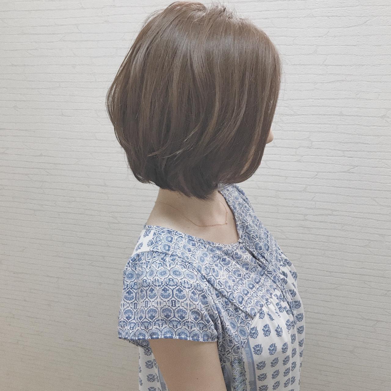 小顔 色気 ショートボブ ボブ ヘアスタイルや髪型の写真・画像