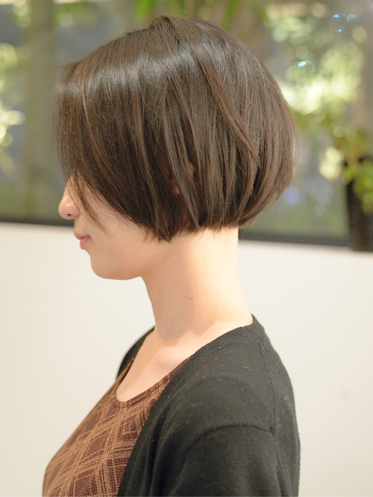 ショートボブ ナチュラル ミニボブ 切りっぱなしボブ ヘアスタイルや髪型の写真・画像 | 郡司 泰之 / ROJITHA 原宿 / ROJITHA