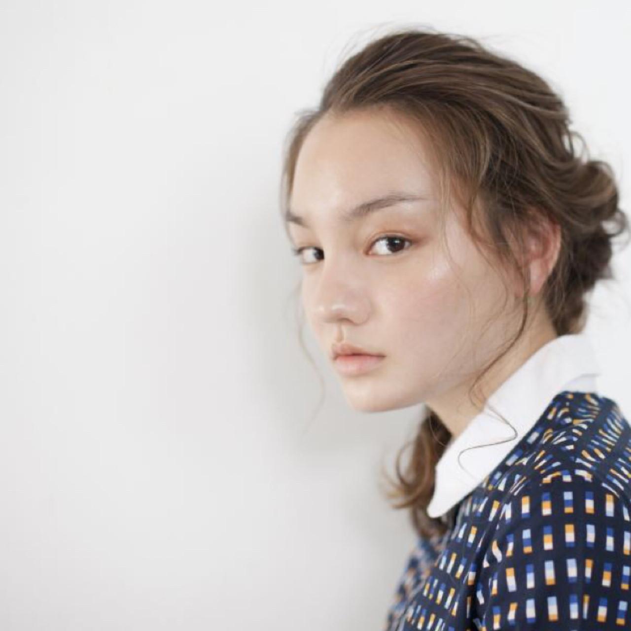 簡単ヘアアレンジ 編み込み ヘアアレンジ セミロング ヘアスタイルや髪型の写真・画像 | 二矢川 / SCALA