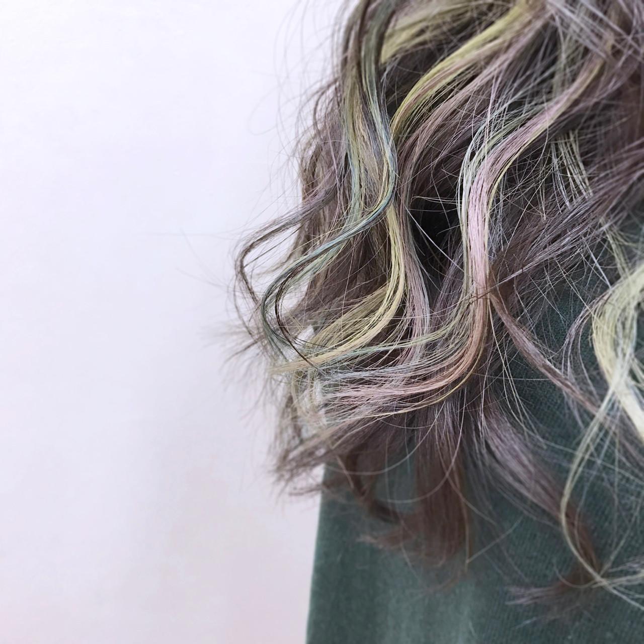 ナチュラル 大人かわいい グラデーションカラー インナーカラー ヘアスタイルや髪型の写真・画像 | YSO / 電髪倶楽部street