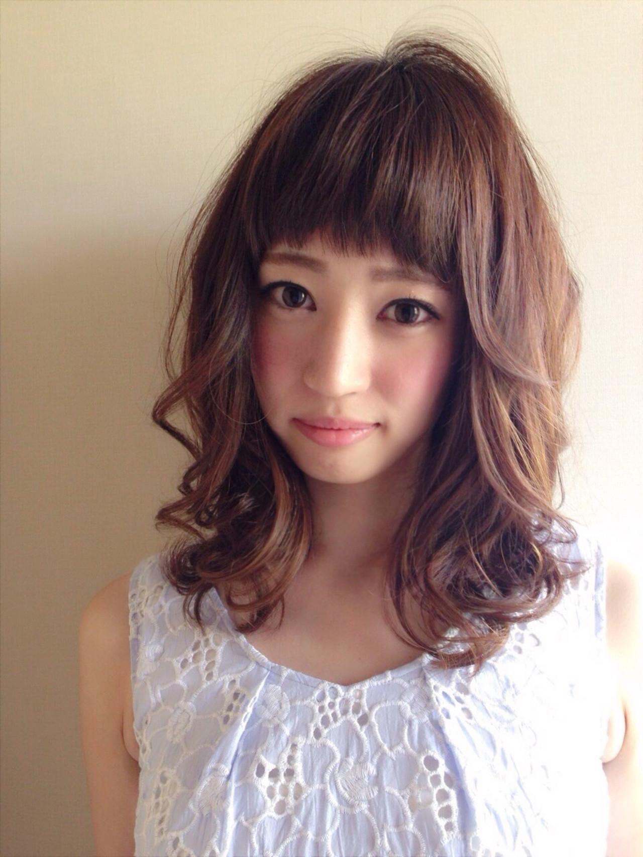ヘアアレンジ ボブ ミディアム 外国人風 ヘアスタイルや髪型の写真・画像