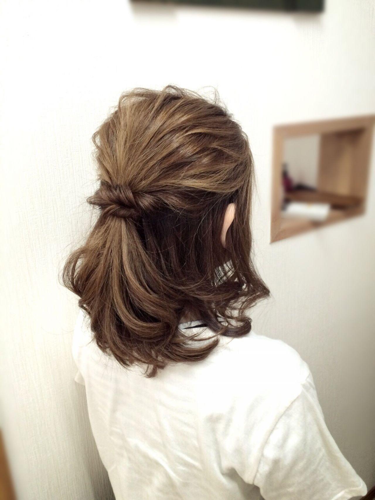 ナチュラル アップスタイル ヘアアレンジ ハーフアップ ヘアスタイルや髪型の写真・画像 | 花原 直樹 / bench-hair(ベンチヘアー)