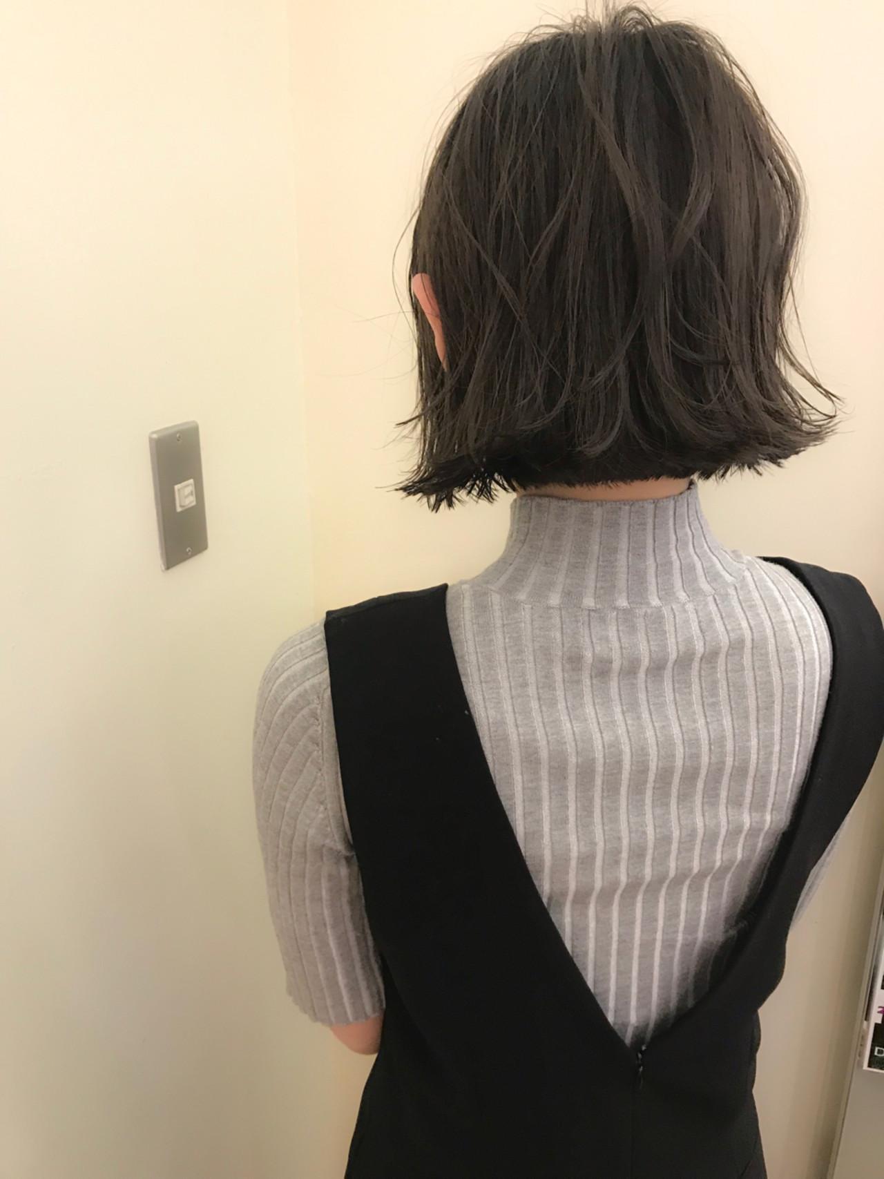 ゆるふわ ハイライト ロブ デート ヘアスタイルや髪型の写真・画像 | yumiko/sapporoSKNOW / SKNOW