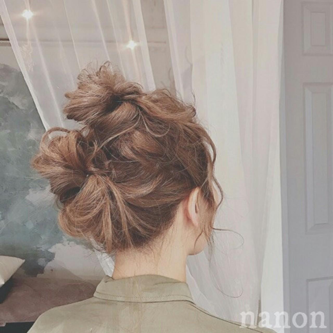 ショート ヘアアレンジ ロング グレージュ ヘアスタイルや髪型の写真・画像
