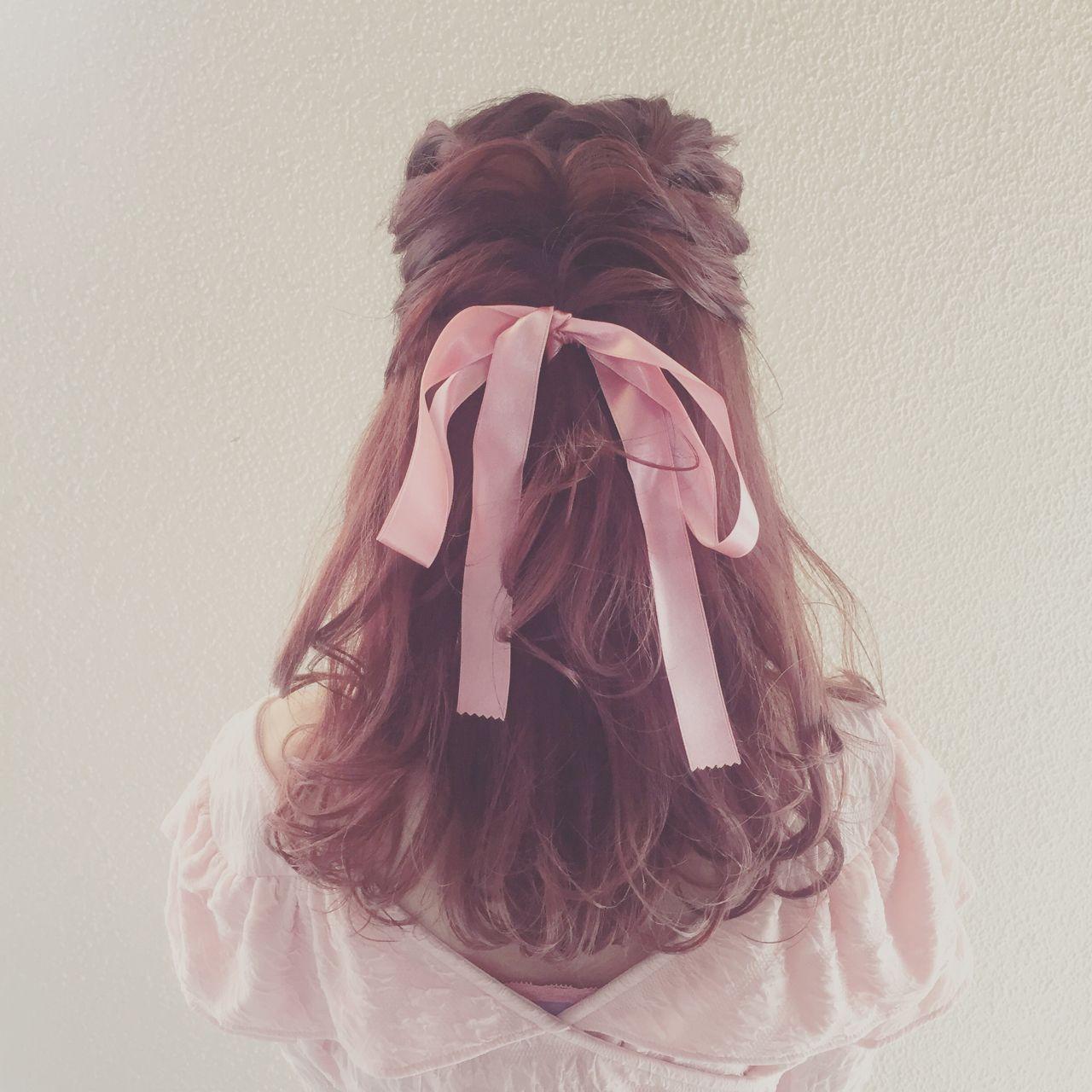 愛され フェミニン ゆるふわ モテ髪 ヘアスタイルや髪型の写真・画像