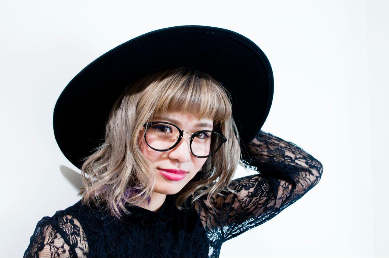 大人かわいい ミディアム ガーリー グラデーションカラー ヘアスタイルや髪型の写真・画像