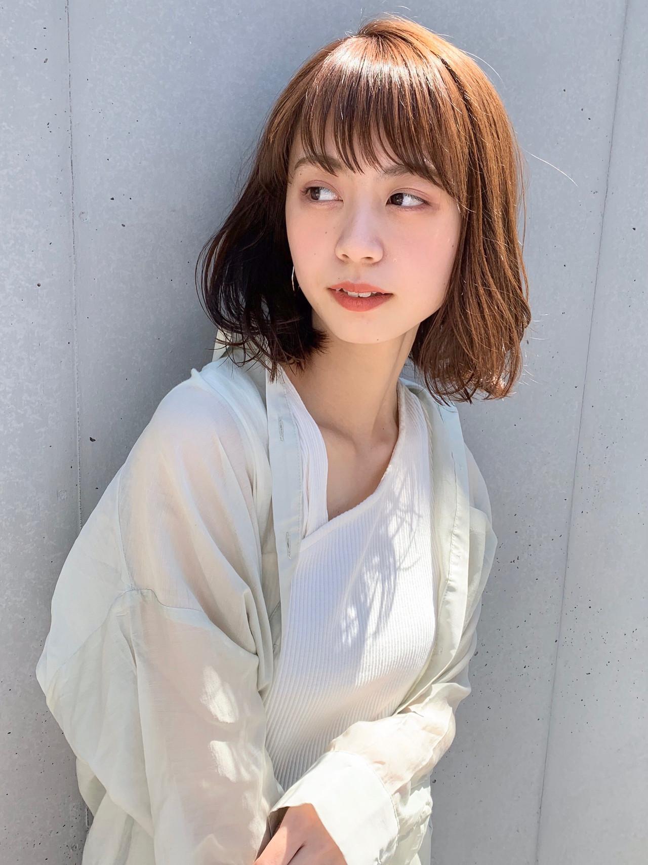 デジタルパーマ 似合わせカット ひし形シルエット フェミニン ヘアスタイルや髪型の写真・画像
