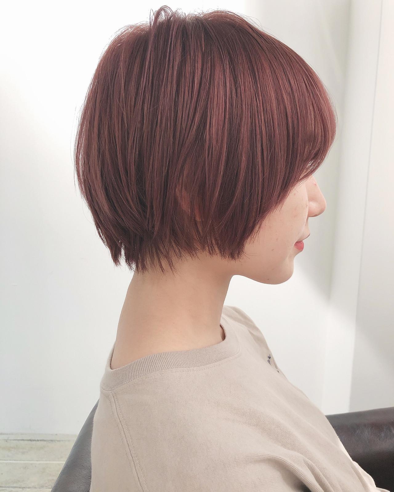 ピンクアッシュ ナチュラル ピンク ラベンダーピンク ヘアスタイルや髪型の写真・画像