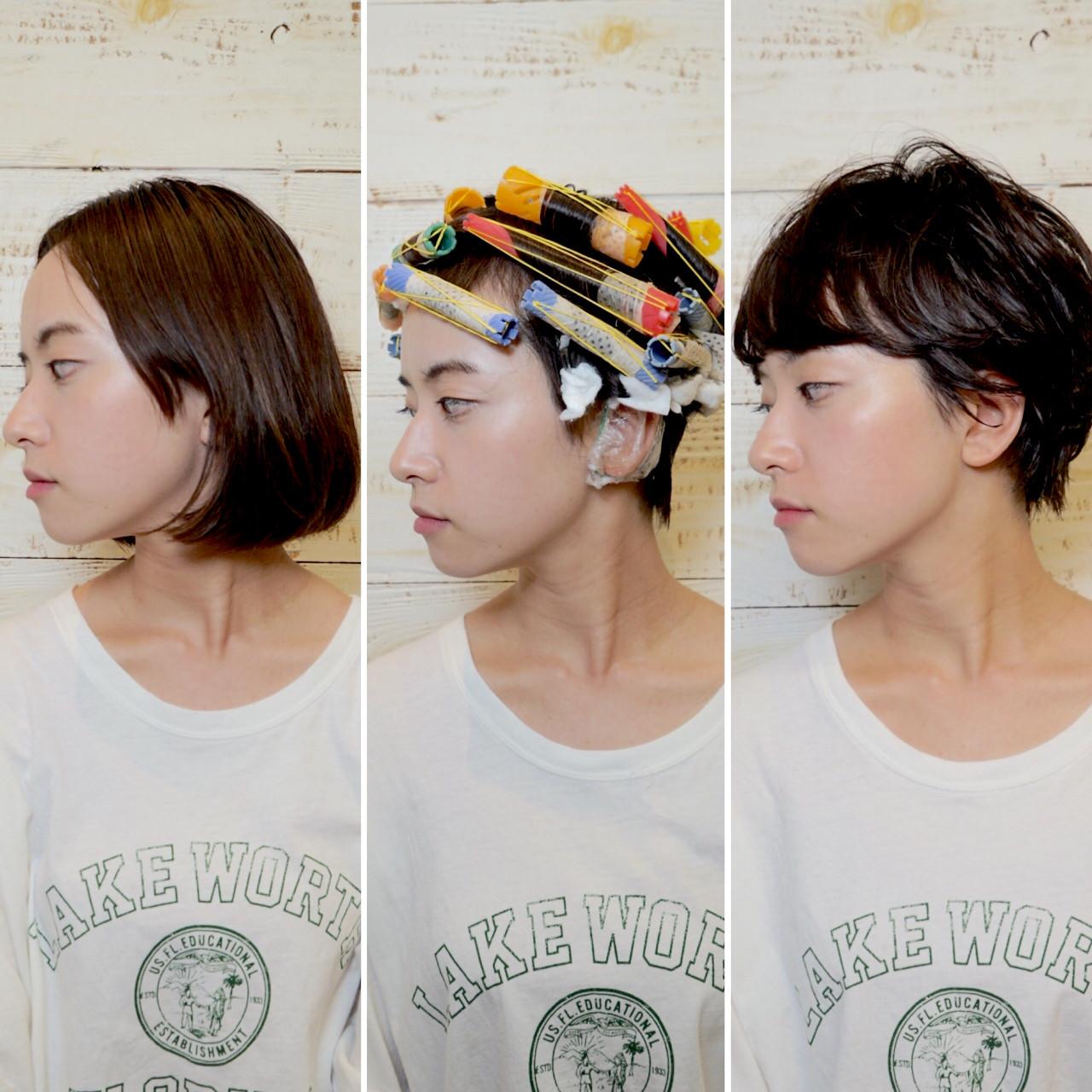 大人かわいい くせ毛風 パーマ ナチュラル ヘアスタイルや髪型の写真・画像