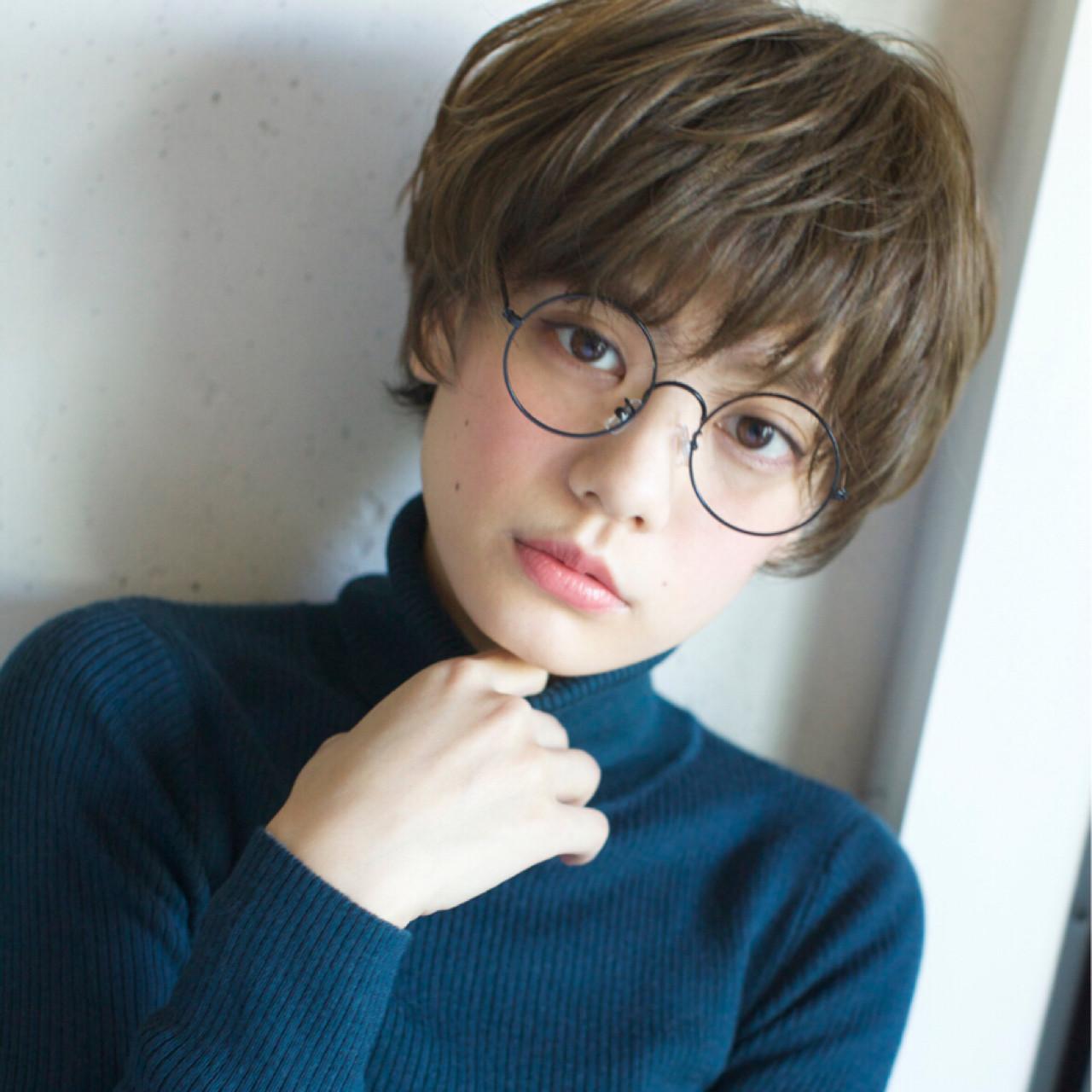ハイライト 小顔 こなれ感 外国人風 ヘアスタイルや髪型の写真・画像