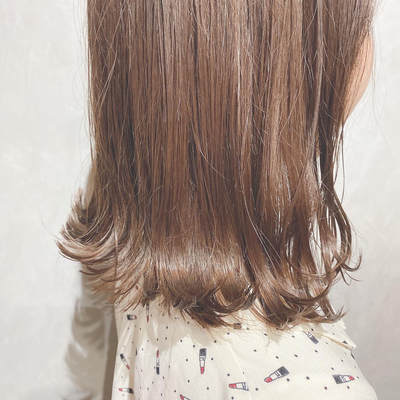 ナチュラル ミニボブ セミロング 韓国ヘア ヘアスタイルや髪型の写真・画像 | 犬島麻姫子 / オルチャンヘアスタイルおまかせください