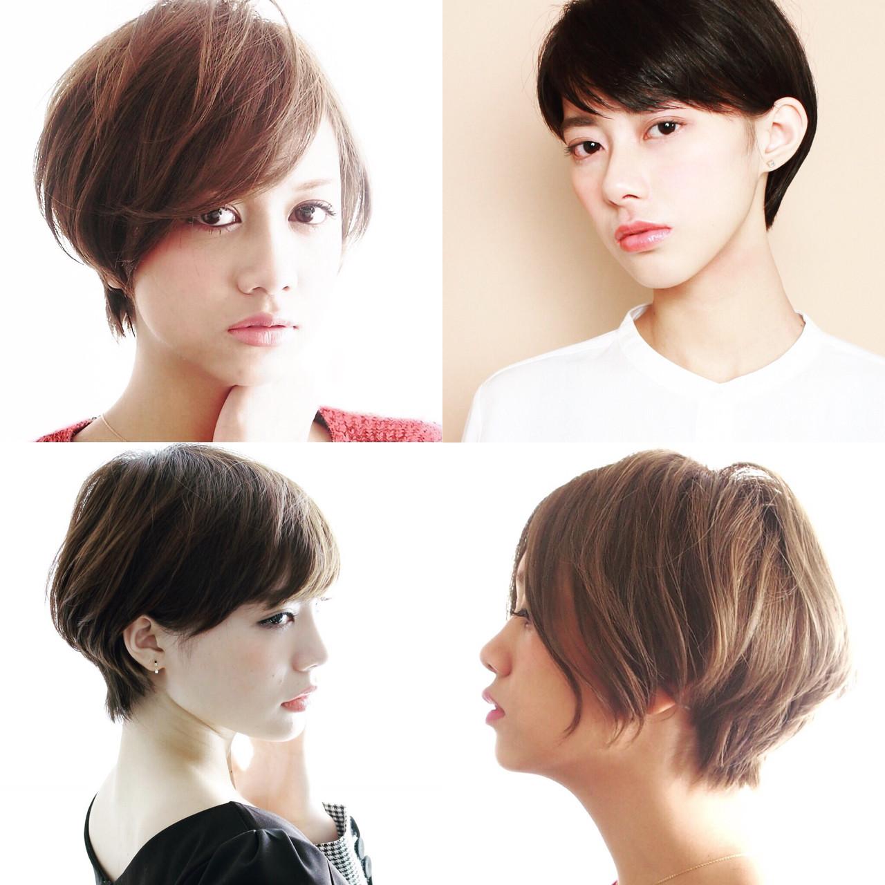 大人女子 ショート こなれ感 ナチュラル ヘアスタイルや髪型の写真・画像