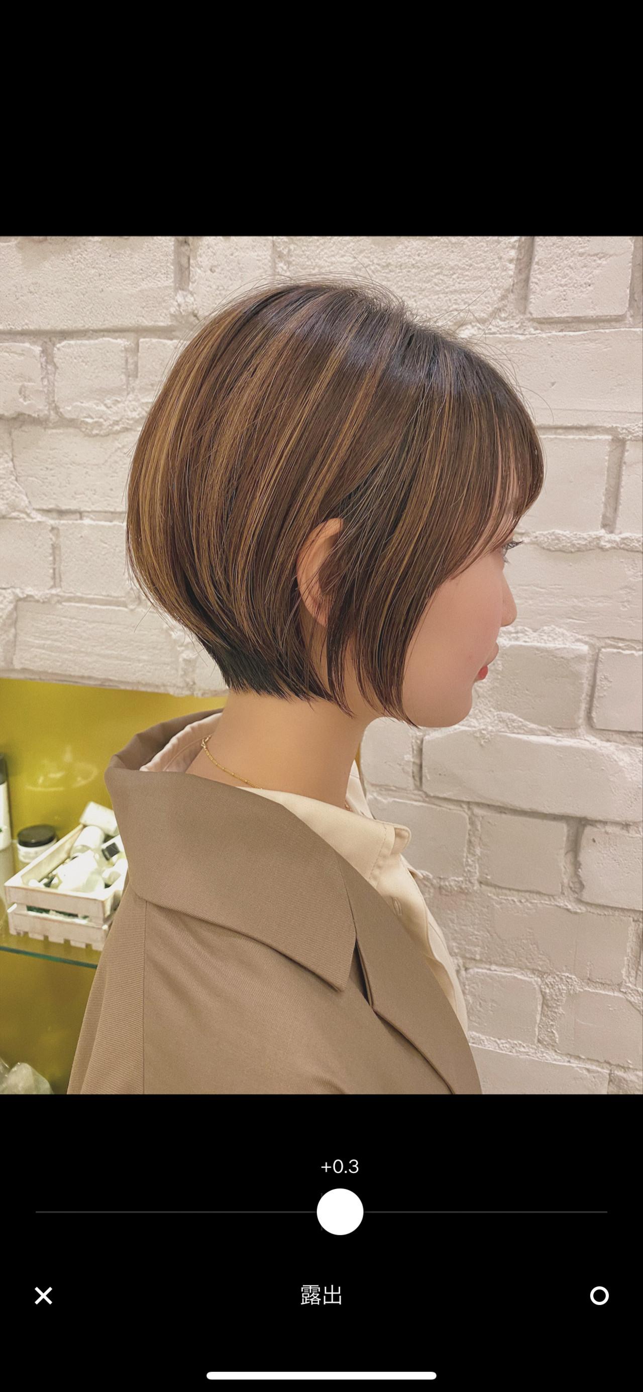 デート ショートボブ 大人かわいい ショートヘア ヘアスタイルや髪型の写真・画像   石川有里彩 / リュドール栄