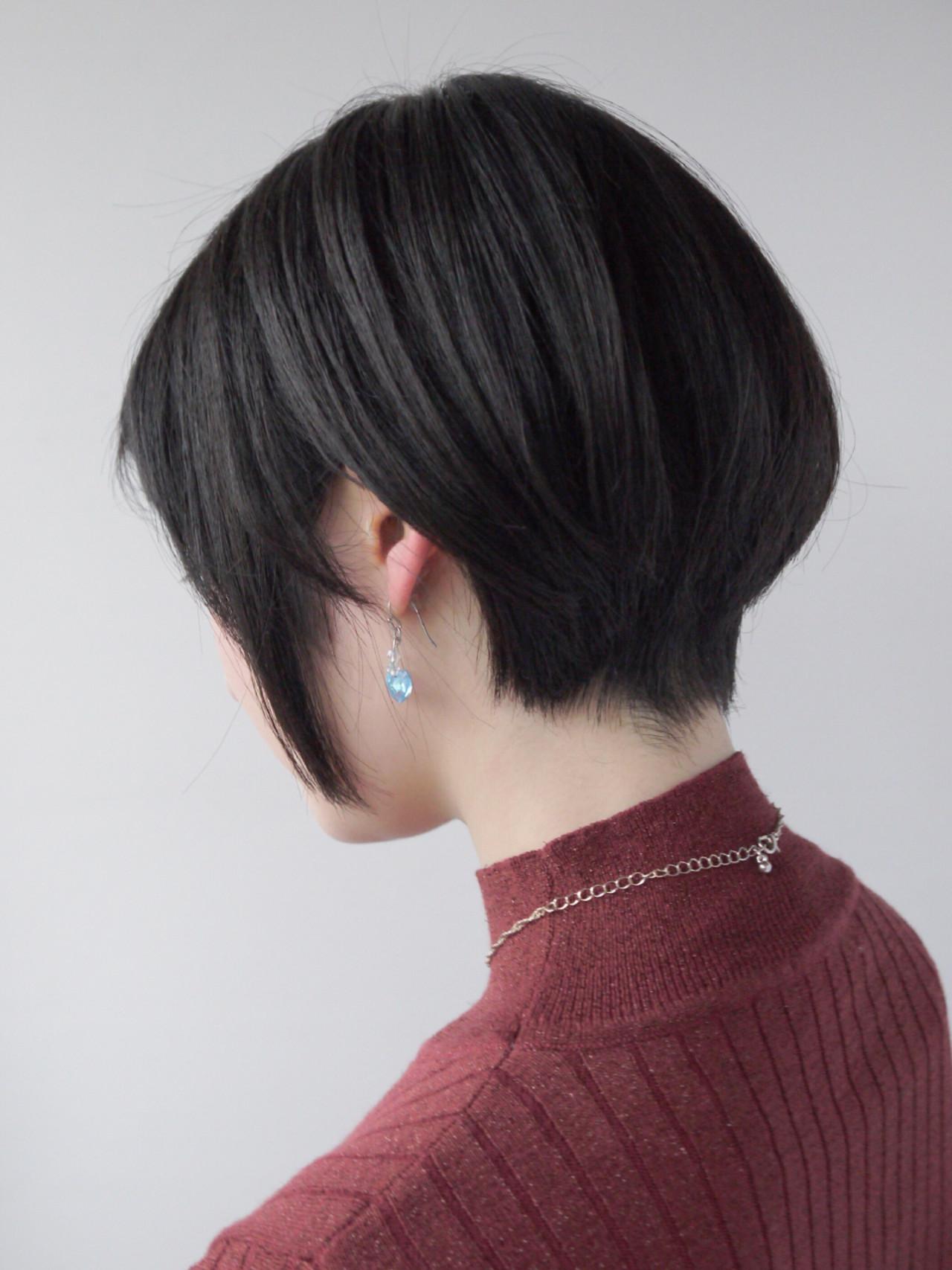 ナチュラル 小顔 ショートボブ ショート ヘアスタイルや髪型の写真・画像 | Hiroさん / モリオフロムロンドン原宿本店