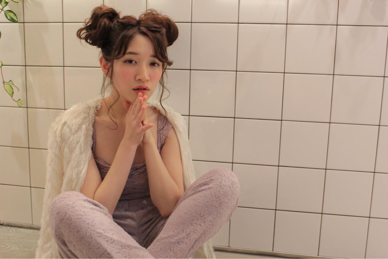 ゆるふわ フェミニン ショート 簡単ヘアアレンジ ヘアスタイルや髪型の写真・画像