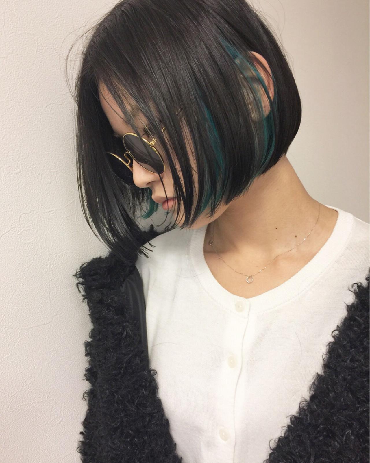 ストリート インナーカラー モード ボブ ヘアスタイルや髪型の写真・画像   吉田 哲也 / Hair Gallery Chainon