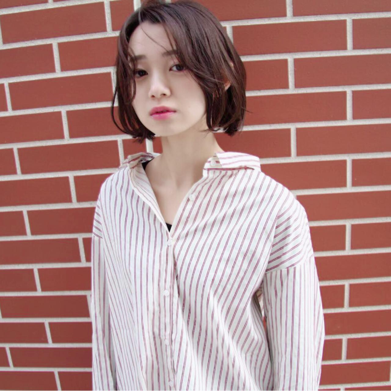 抜け感 透明感 アンニュイ ボブ ヘアスタイルや髪型の写真・画像