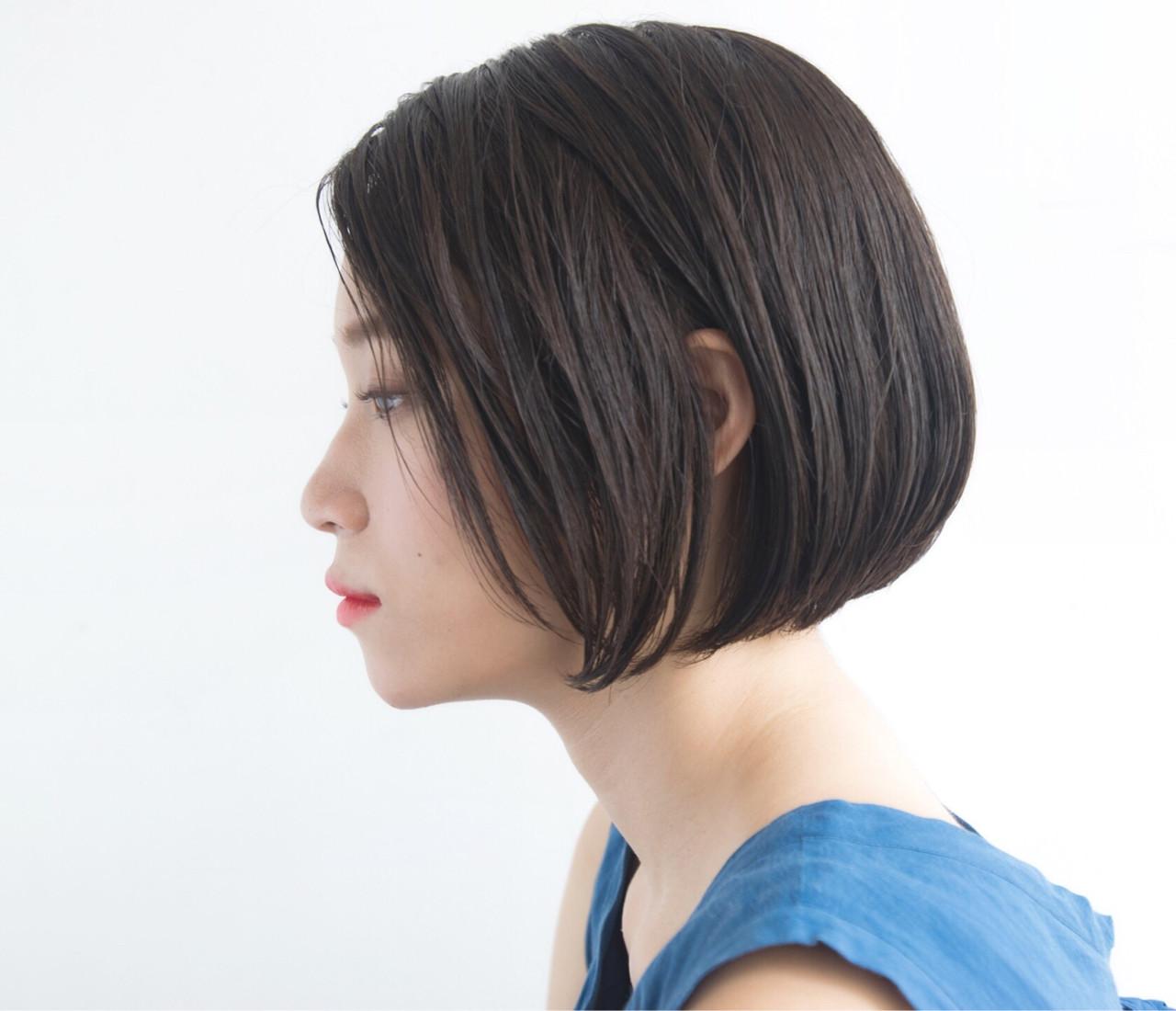ナチュラル ボブ ピュア ストレート ヘアスタイルや髪型の写真・画像 | anti_RIKUSHI / ANTI
