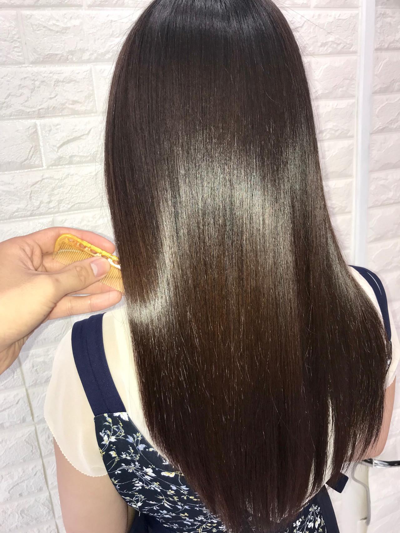 ナチュラル 髪質改善 髪質改善トリートメント ツヤ髪 ヘアスタイルや髪型の写真・画像 | 大西 正海 / seasons by  marbles