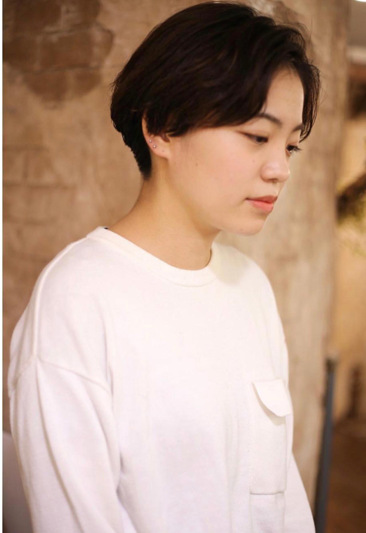 ショート ベリーショート ストリート ハンサムボブ ヘアスタイルや髪型の写真・画像 | nico / magiy hair 下北沢