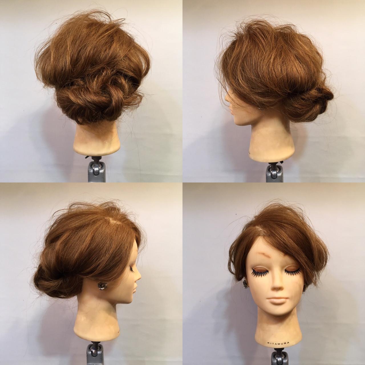 パーティ 大人かわいい 結婚式 波ウェーブ ヘアスタイルや髪型の写真・画像