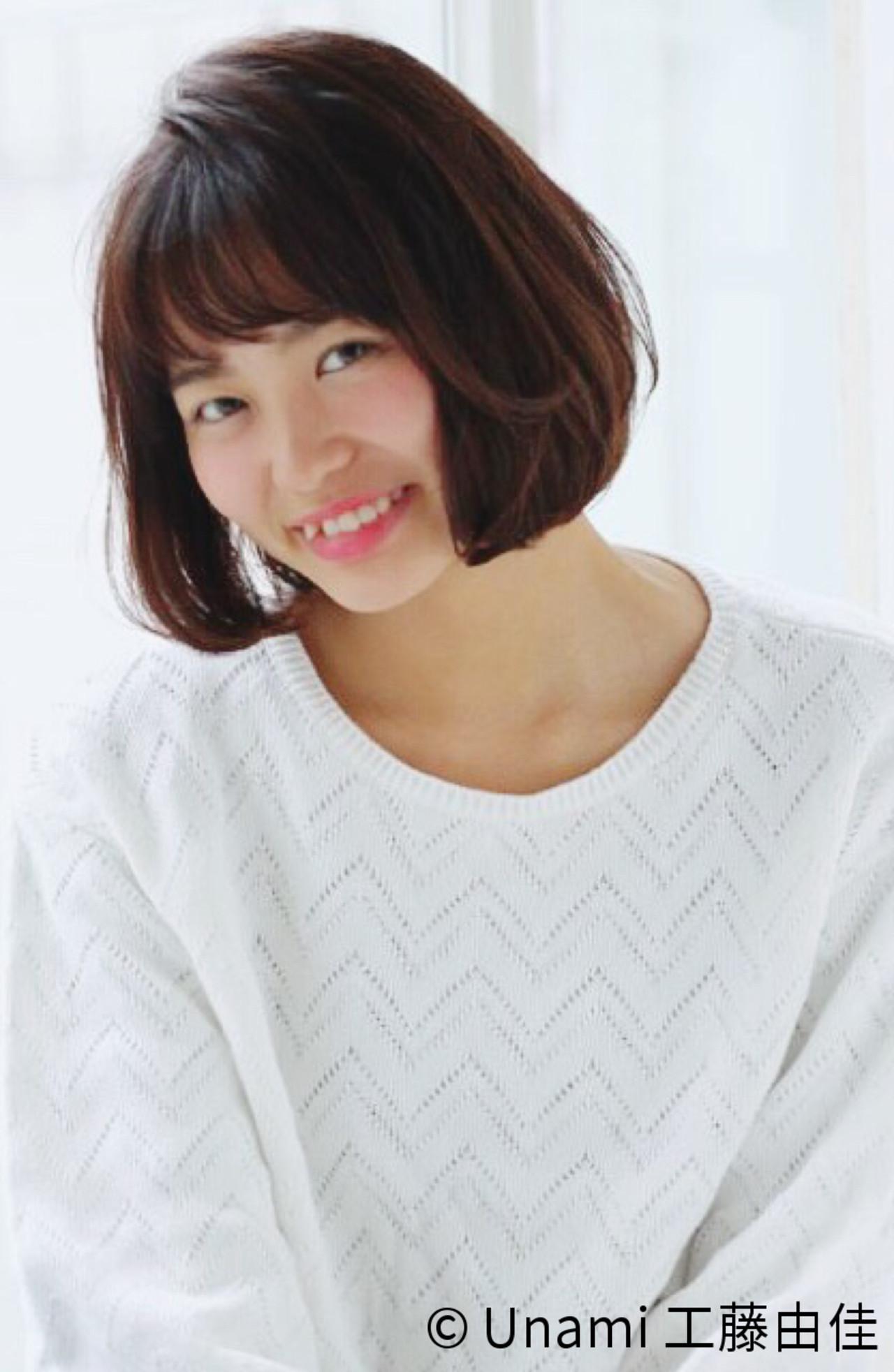 夏 ボブ 春 ワンカール ヘアスタイルや髪型の写真・画像   Unami 工藤由佳 / Unami omotesando