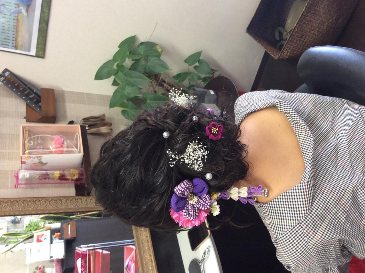 着物 成人式ヘア 成人式 成人式ヘアメイク着付け ヘアスタイルや髪型の写真・画像 | rumiLINKS美容室 / リンクス美容室