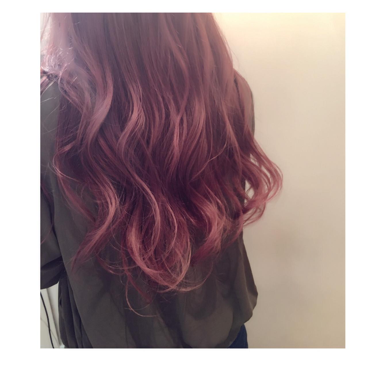 グラデーションカラー ストリート ピンク ラベンダーピンク ヘアスタイルや髪型の写真・画像